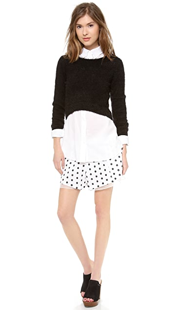 Thakoon Addition Chiffon Trim Shorts
