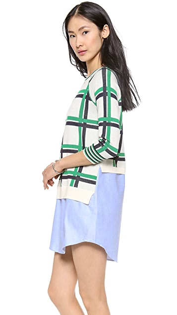 Thakoon Addition Knit Combo Dress