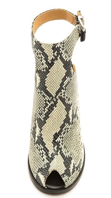 Thakoon Addition Erika Snake Embossed Sandals