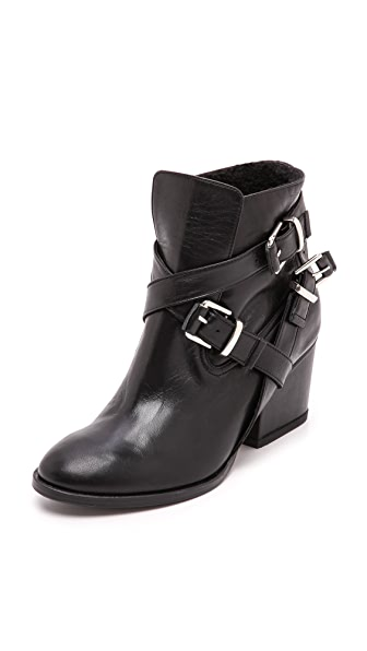 Thakoon Addition Eva Shearling Buckle Booties