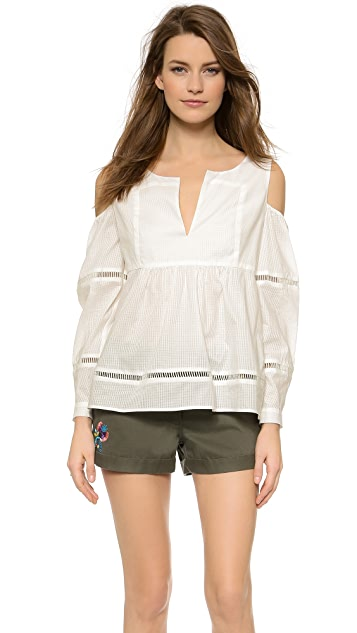 Thakoon Addition Open Shoulder Blouse