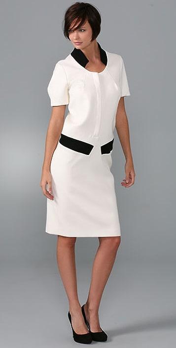 Thakoon Trompe l'Oeil Bomber Dress