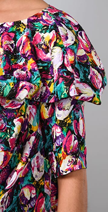 Thakoon Short Falling Ruffle Dress