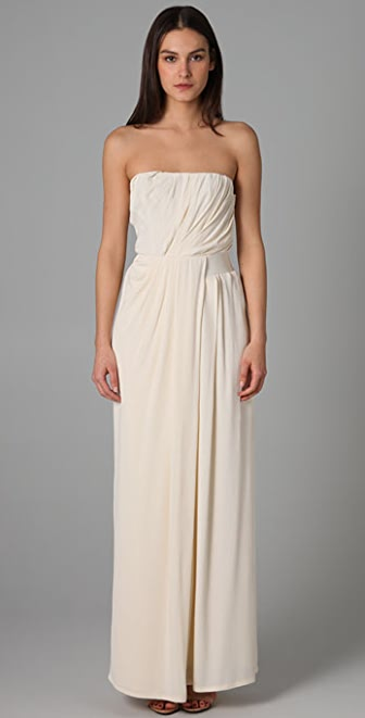 Thakoon Strapless Draped Gown