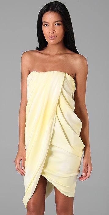 Thakoon Strapless Draped Dress