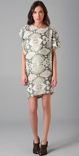 Thakoon Sequin Draped T Shirt Dress