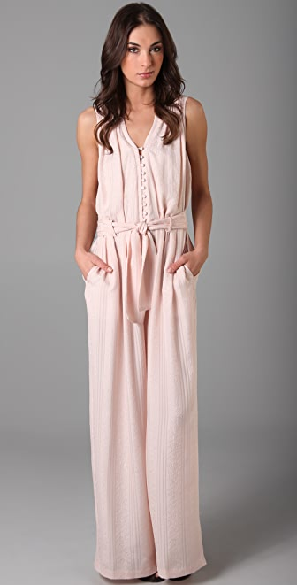 Thakoon Button Front Long Jumpsuit