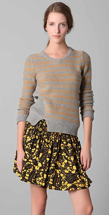 Thakoon Striped Crew Neck Sweater