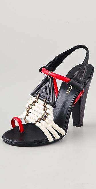 Thakoon Toe Ring High Heel Sandals