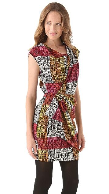 Thakoon Spotted Plaid Sheath Dress