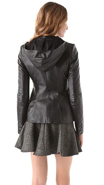 Thakoon Leather Hooded Blazer