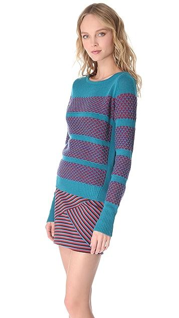 Thakoon Geo Boat Neck Sweater