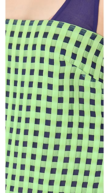 Thakoon Checked Sleeveless Dress