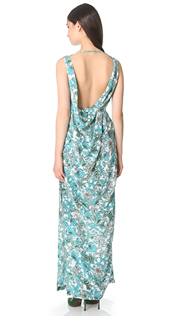 Thakoon Open Back Draped Gown