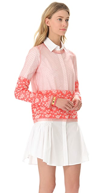 Thakoon Tulle Trim Pullover