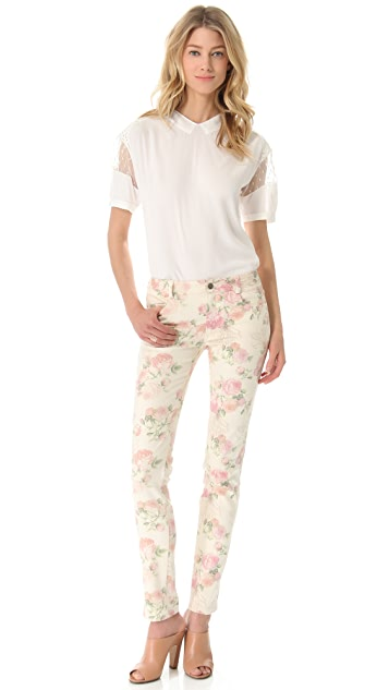 Thakoon Floral Slim Jeans
