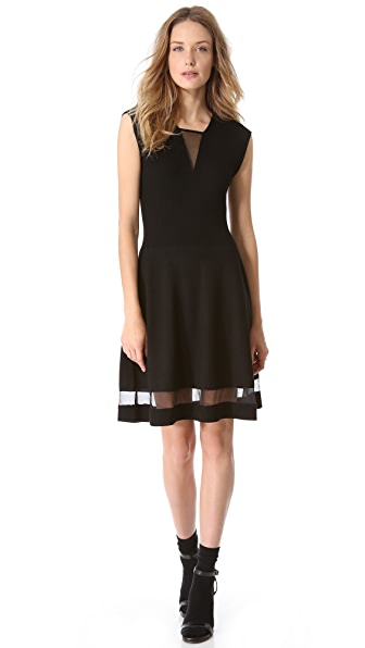 Thakoon Ribbed Bodice Dress