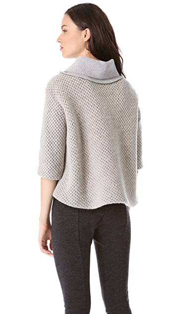 Thakoon Cropped Cowl Sweater