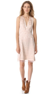 Thakoon Sleeveless V Neck Dress