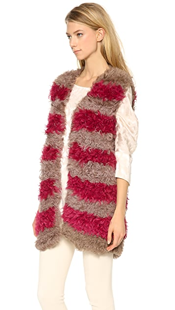 Thakoon Draped Fur Vest