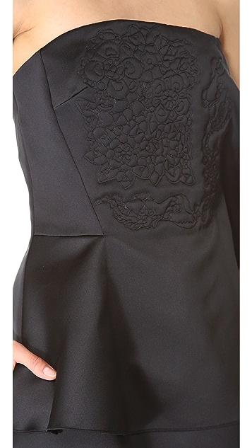 Thakoon Strapless Ruffle Dress