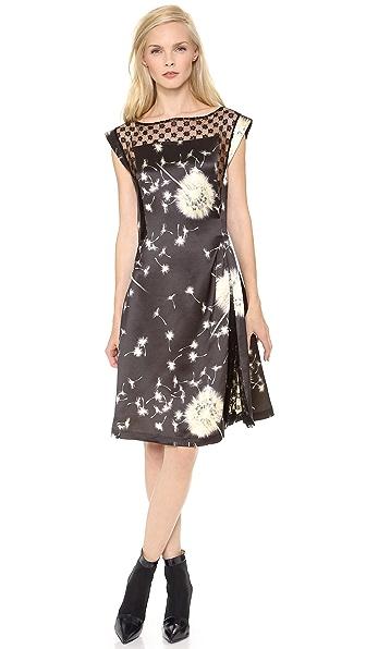 Thakoon Side Gathered Lace Inset Dress
