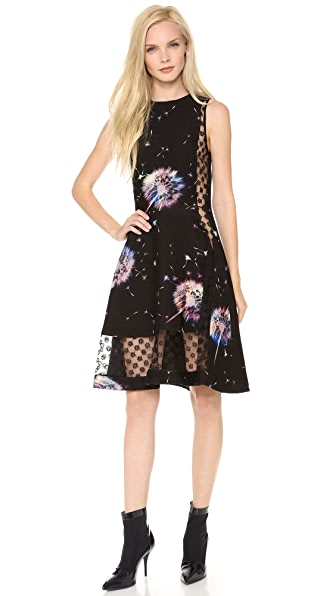 Thakoon Sleeveless Lace Inset Dress