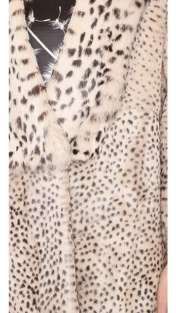 Thakoon Fur Coat with 3/4 Sleeves