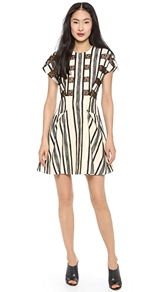 Thakoon Lace Inset A-Line Dress