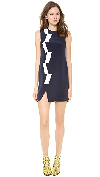 Thakoon Sleeveless Basketweave Panel Dress