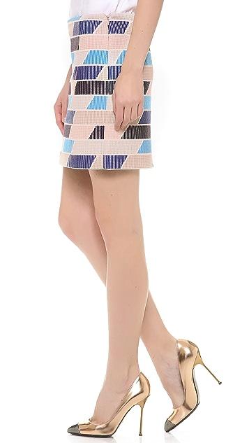 Thakoon Check Tweed Skirt