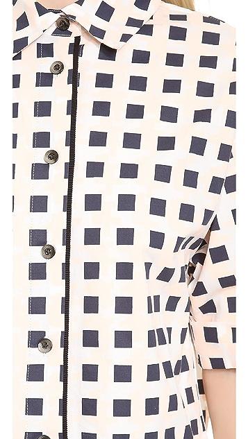 Thakoon 3/4 Sleeve Box Shirt