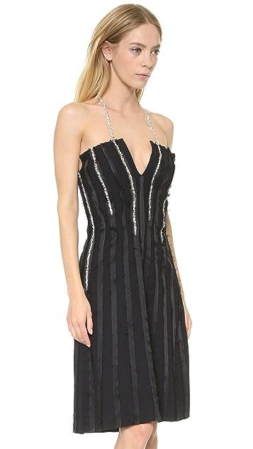 Thakoon Jewel Seamed Sleeveless Dress