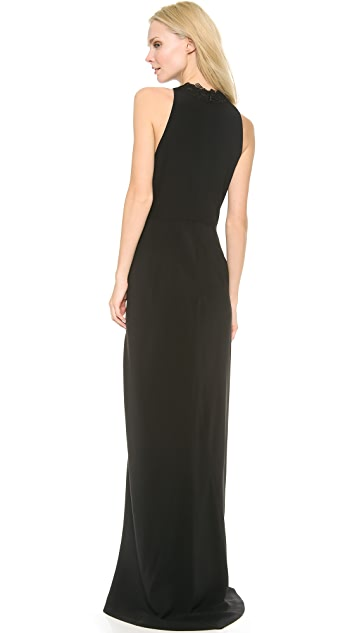 Thakoon Lace Trim V Neck Gown