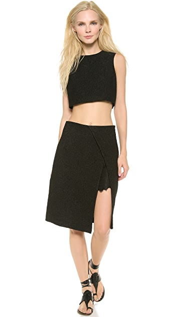 Thakoon High Waist Wrap Skirt