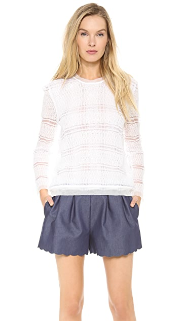 Thakoon Sheer Double Layer Pullover