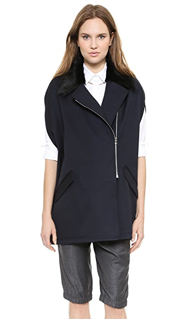 Thakoon Fur Collar Cape