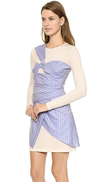 Thakoon Long Sleeve Wrapped Dress