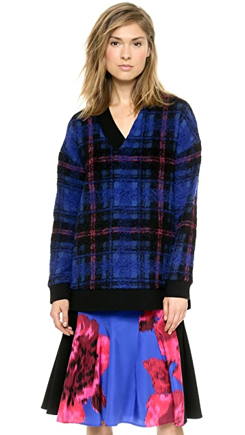 Thakoon Layered Cape Back Pullover