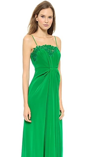 Thakoon Lace Front Camisole Gown