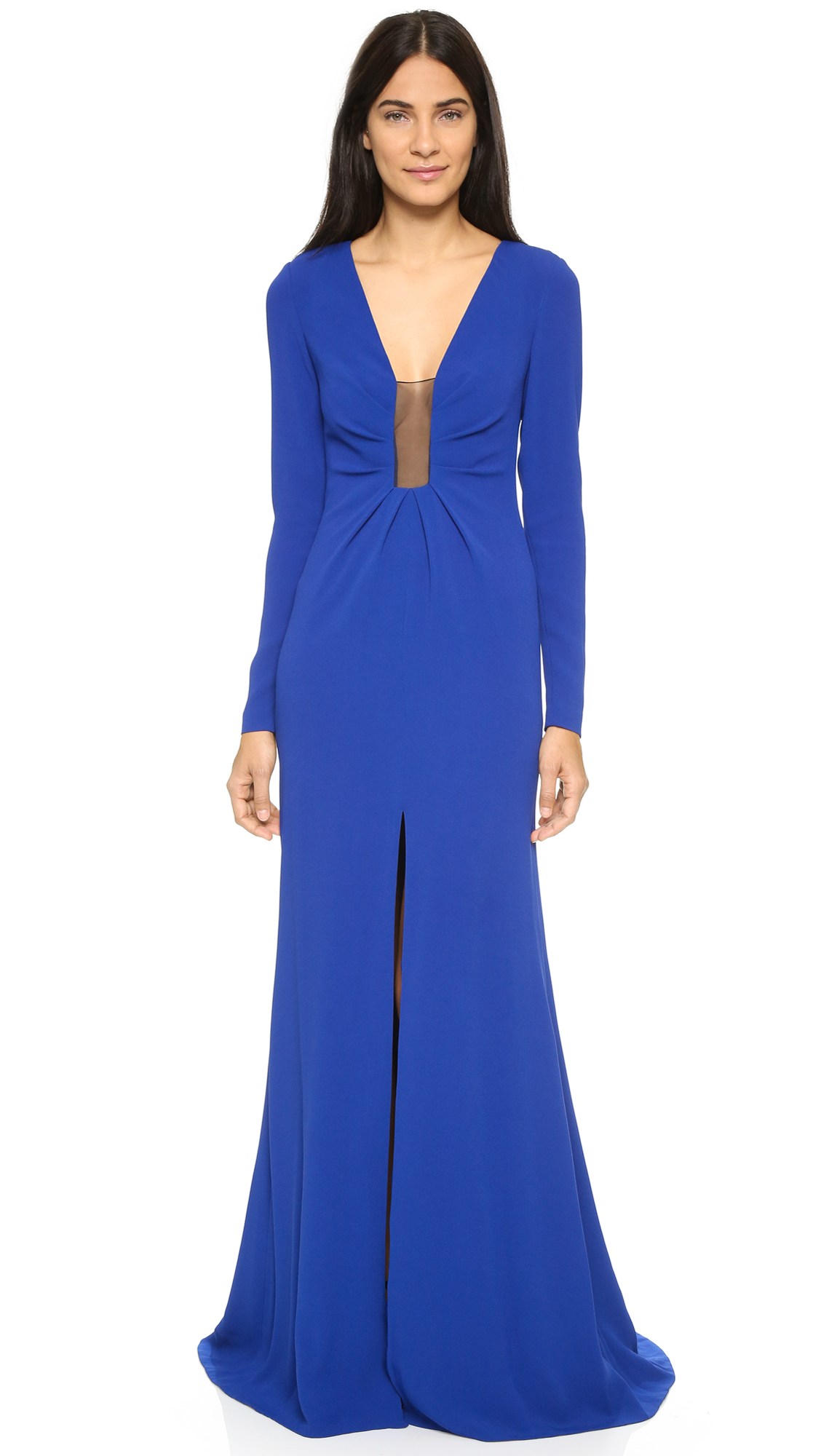Thakoon Gown With Sheer Inset - Dark Blue at Shopbop
