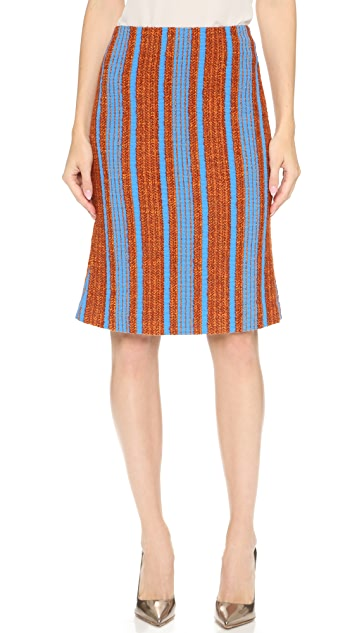 Thakoon Stiriped Boucle Skirt
