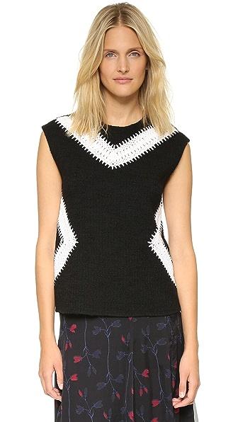 Thakoon Sleeveless Crochet Inset Top at Shopbop