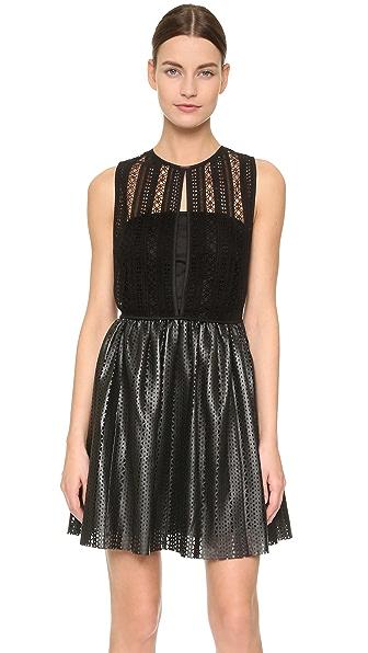 Thakoon Crochet Inset Mini Dress - Black at Shopbop