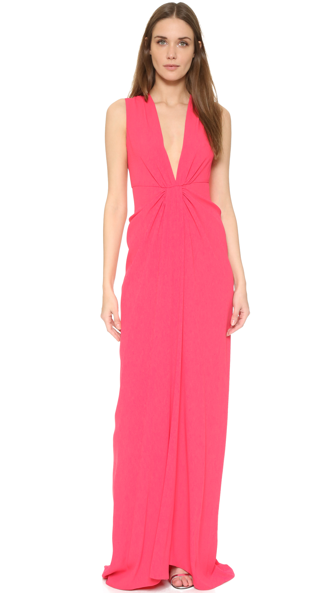 Thakoon Plunge Front Gown - Pink at Shopbop