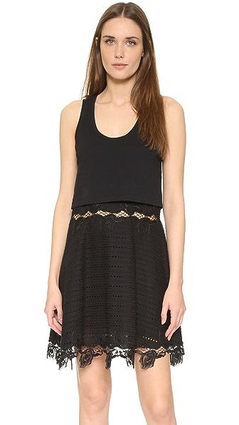 Thakoon Layered Tank Dress - Black at Shopbop