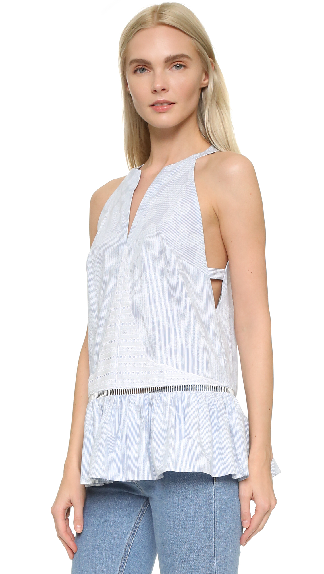 Thakoon Open Side Tank - Blue at Shopbop