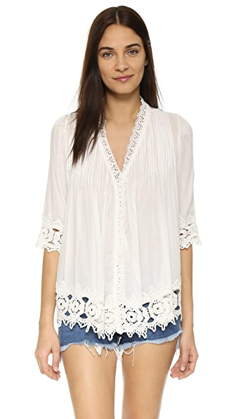 TIARE HAWAII Belle Mare Kimono In Off White