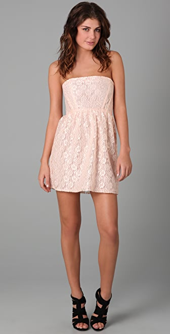 Thayer Dream Strapless Lace Dress