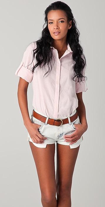 Thayer Slit Back Button Down Shirt